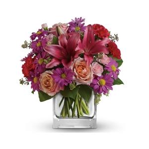 Enchanted Garden Flower Bouquet in a Vase