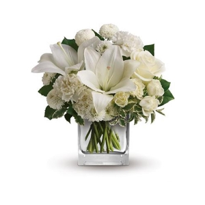 Starlit Kisses White Flower Arrangement