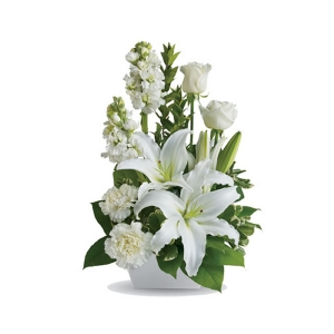 White Simplicity Sympathy Flowers